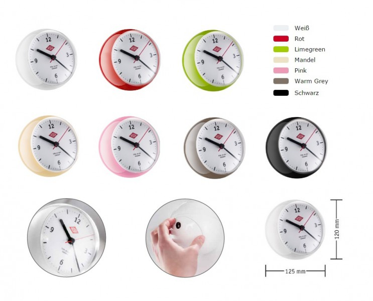 wesco 322411 mini clock mit timer wesco k chenuhr neue farben ebay. Black Bedroom Furniture Sets. Home Design Ideas