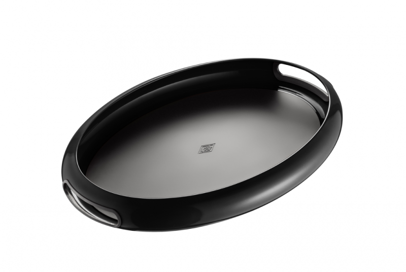 Wesco spacy tray oval tablett gartentablett deko objekt new ebay - Deko tablett schwarz ...